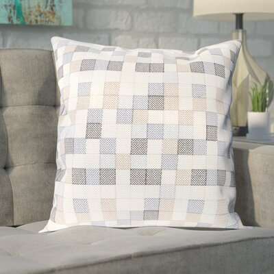 Cevenola Cotton Pillow Cover Size: 22 H x 22 W x 1 D, Color: Blue