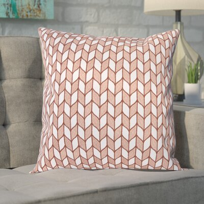 Neapolis Block Chevron Throw Pillow Color: Rose Gold