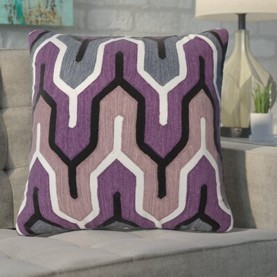 Alamak Modern Throw Pillow Color: Purple
