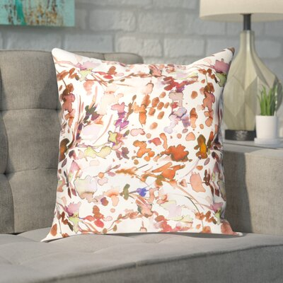 Mishler Silk Pillow Cover Size: 18 H x 18 W x 1 D, Color: Orange