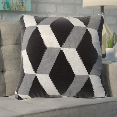 Drye Throw Pillow Color: Black