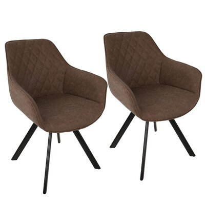 Bender Arm Chair Upholstery: Brown