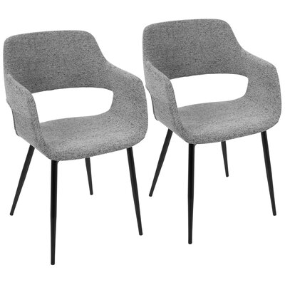 Defazio Arm Chair Upholstery: Gray