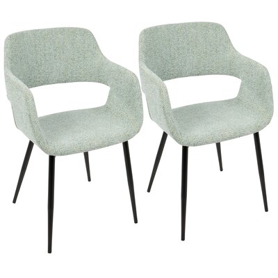 Defazio Arm Chair Upholstery: Light Green