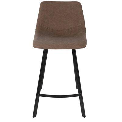Graig 25.5 inch Bar Stool Upholstery: Brown
