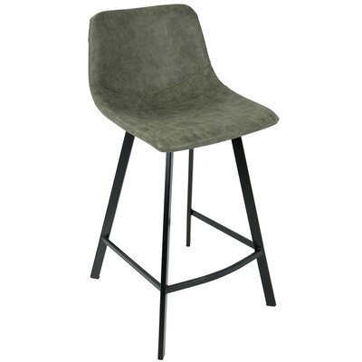 Almeida 25.5 Bar Stool Upholstery: Green