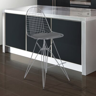Rosser 43.31 Bar Stool Upholstery: Gray