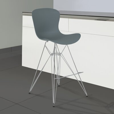 Rossetti 39.37 Bar Stool Finish: Gray