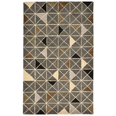 Hitz Hand-Tufted Gray Indoor Area Rug Rug Size: 36 x 56