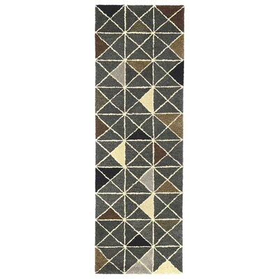 Hitz Hand-Tufted Gray Indoor Area Rug Rug Size: 9 x 13