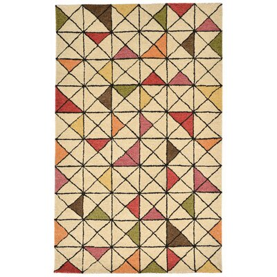Hitz Hand-Tufted Natural Area Rug Rug Size: 36 x 56