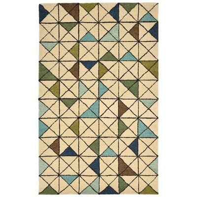Hitz Hand-Tufted Light Brown Area Rug Rug Size: 3'6
