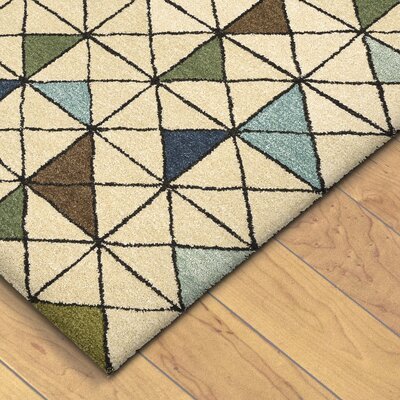 Hitz Hand-Tufted Light Brown Area Rug Rug Size: 36 x 56