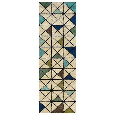 Hitz Hand-Tufted Light Brown Area Rug Rug Size: Runner 23 x 8