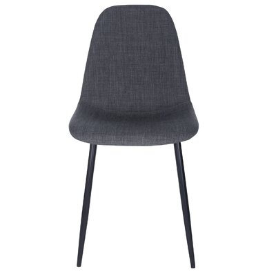 Lundell Side Chair Upholstery: Charcoal