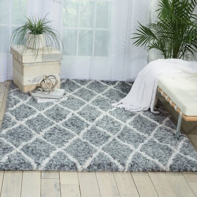 North Moore Hand-Tufted Gray/Ivory Area Rug Rug Size: 5 x 7