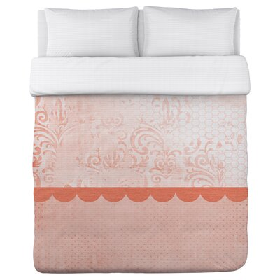 Lundstrom Peach Duvet Cover Size: Twin