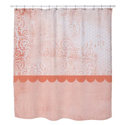 Lundstrom Peach Shower Curtain