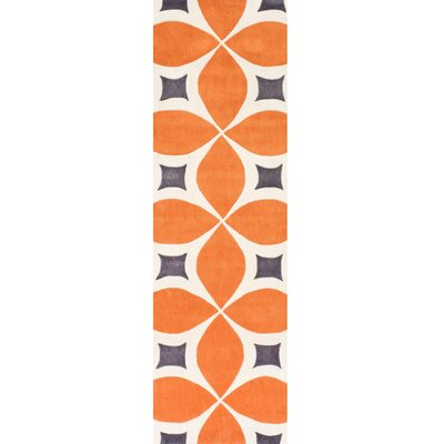 Sorrento Hand Woven Orange Area Rug Rug Size: Runner 26 x 12