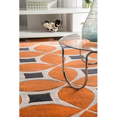 Sorrento Hand Woven Orange Area Rug Rug Size: Rectangle 6 x 9