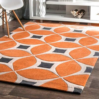 Sorrento Orange Area Rug Rug Size: 6 x 9