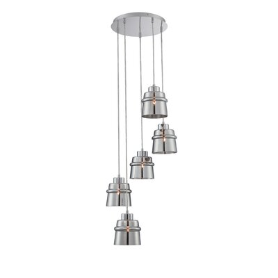 Mabie 5-Light Cascade Pendant