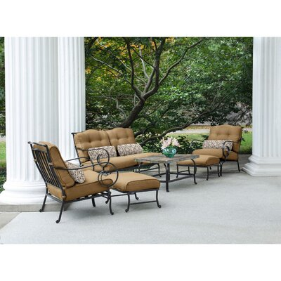 Swayne 6 Piece Patio Set with Cushions Fabric: Country Cork