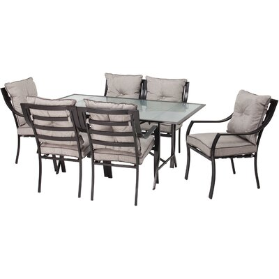 Sweetman 7 Piece Dining Set with Cushions