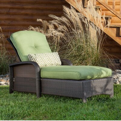 Billington Chaise Lounge with Cushion Fabric: Cilantro Green