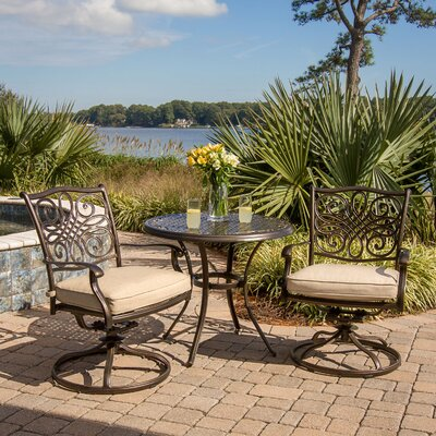 Swatzell 3 Piece Bistro Set with Cushions