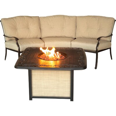 Barryton 2 Piece Fire Pit Seating Group with Cushions