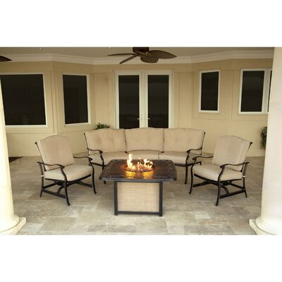 Barryton 4 Piece Fire Pit Seating Group with Cushions