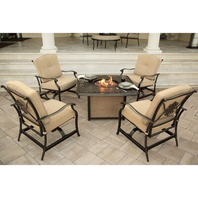 Swatzell 5 Piece Fire Pit Seating Group with Cushions