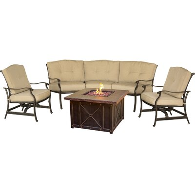 Barryton 4 Piece Rocker Seating Group with Cushions