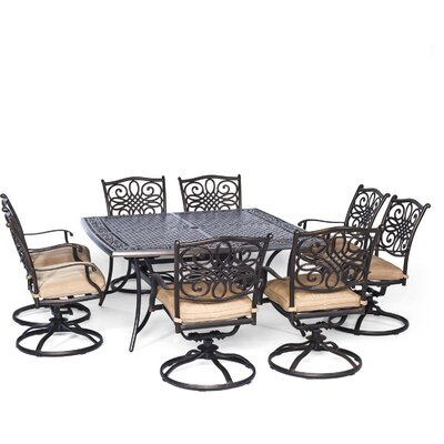 Barryton 9 Piece Dining Set with Cushion