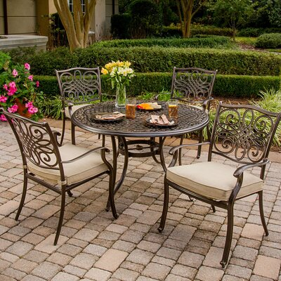 Barryton 5 Piece Aluminum Dining Set