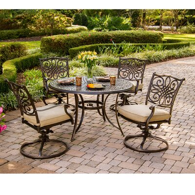 Barryton 5 Piece Metal Dining Set