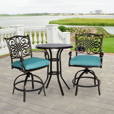 Swatzell 3 Piece Bistro Set