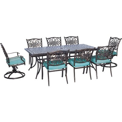Barryton 9 Piece Oil Rubbed Bronze Dining Set
