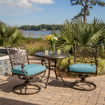 Barryton 3 Piece Bistro Set