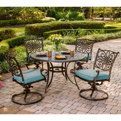 Barryton 5 Piece Oil Rubbed Bronze Dining Set