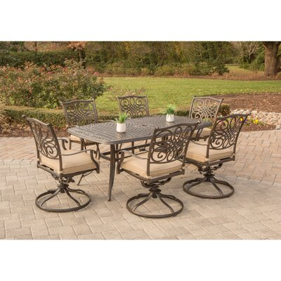 Barryton 7 Piece Dining Set with Cushion