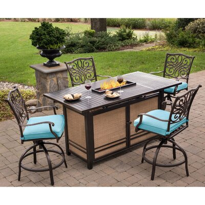 Paulette 5-Piece High Dining Bar Set