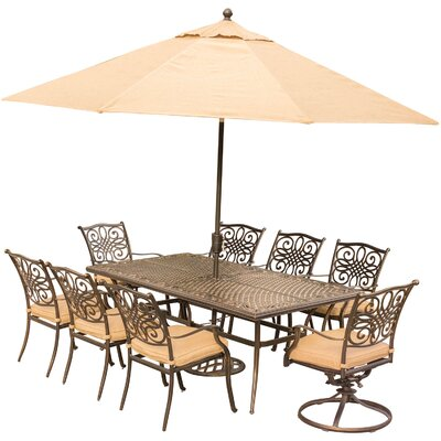 Exquisite Rectangular Metal Dining Set Product Photo