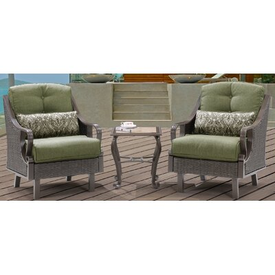 Sherwood 3 Piece Deep Seating Group with Cushions Finish: Vintage Meadow