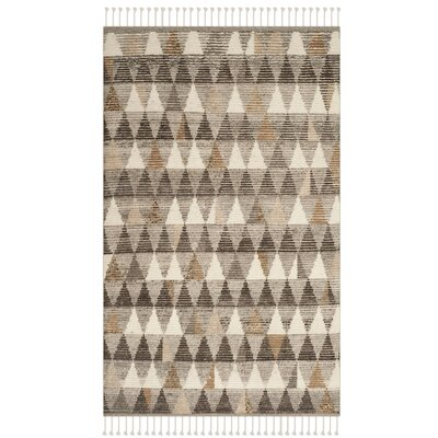 Lohan Hand-Knotted Ivory Area Rug Rug Size: 6 x 9