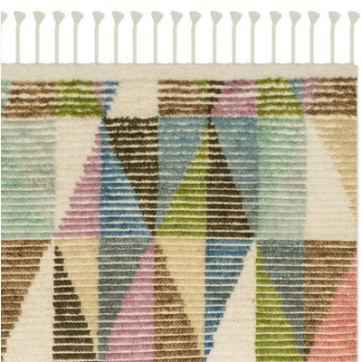 Lohan Hand-Knotted Green/Blue Area Rug Rug Size: Rectangle 6 x 9