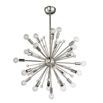 Corvus 24-Light Sputnik Chandelier Finish: Polished Nickel
