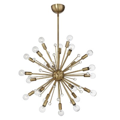 Corvus 24-Light Sputnik Chandelier Finish: Warm Brass