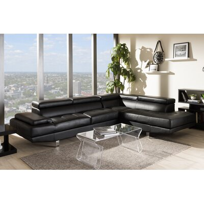 Cosimo Sectional Upholstery: Black